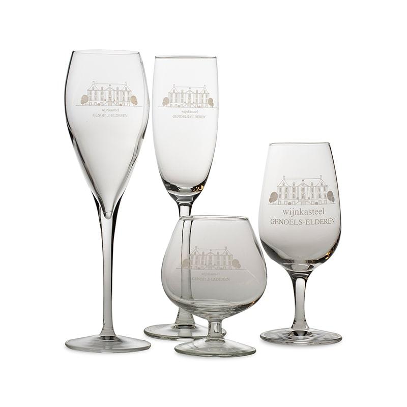 Glasses Wine Castle Genoels-Elderen