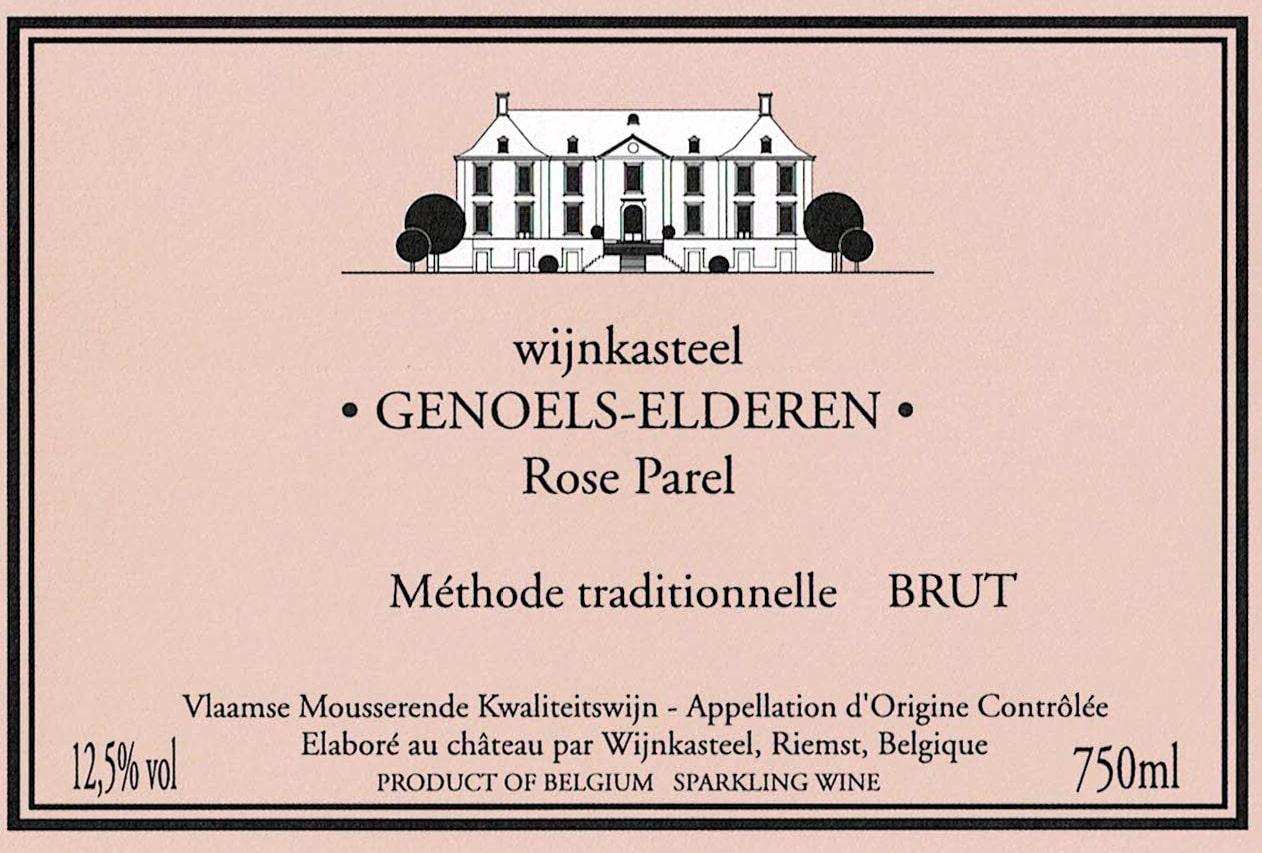 Label Pink Pearl Brut Wine Castle Genoels-Elderen