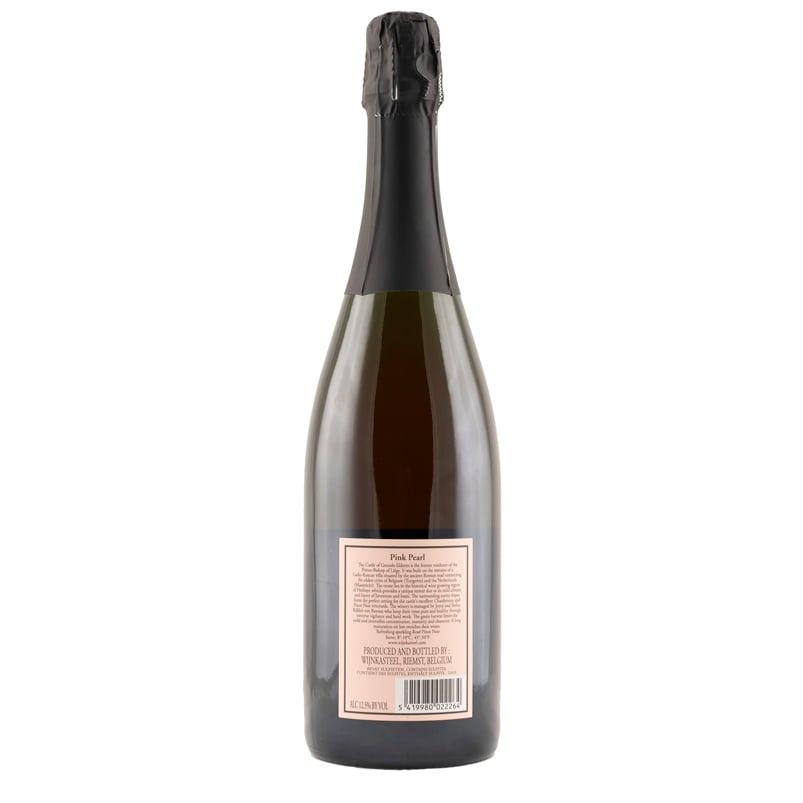 Bottle Pink Pearl Brut Wine Castle Genoels-Elderen