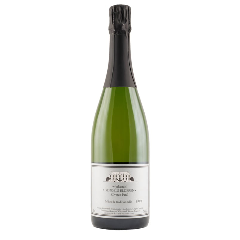 Bottle Silver Pearl Brut Wine Castle Genoels-Elderen