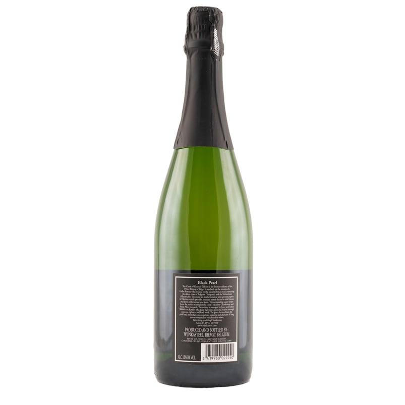 Fles Zwarte Parel Brut Wijnkasteel Genoels-Elderen